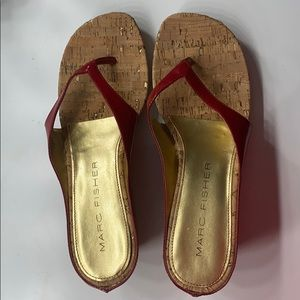 Marc Fisher Wedge Sandals (NEVER WORN!!)